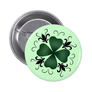 Fancy victorian shamrock St Patricks Day Pinback Buttons