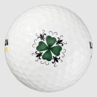 Fancy victorian shamrock St Patricks Day Pack Of Golf Balls