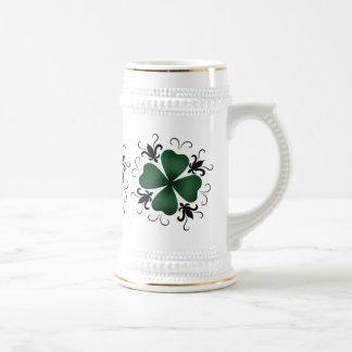 Fancy victorian shamrock St Patricks Day 18 Oz Beer Stein