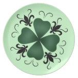 Fancy victorian shamrock St Patricks Day Plate