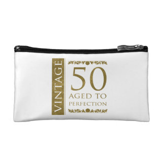 Fancy Vintage 50th Birthday Cosmetic Bags