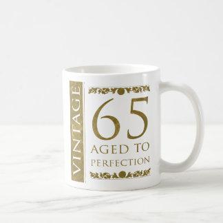 Fancy Vintage 65th Birthday Coffee Mugs
