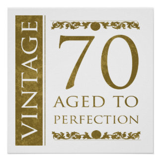 Fancy Vintage 70th Birthday Poster