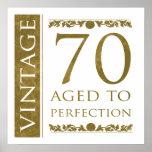 Fancy Vintage 70th Birthday Print