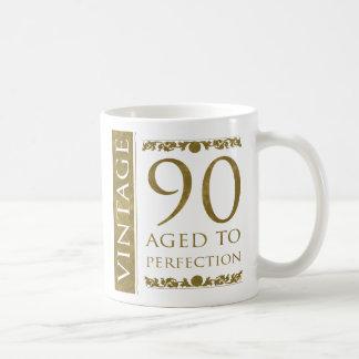 Fancy Vintage 90th Birthday Coffee Mug