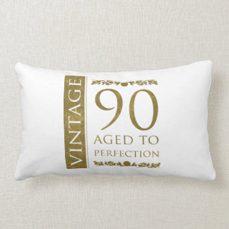 Fancy Vintage 90th Birthday Lumbar Pillow