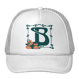 Fancy vintage art nouveau letter B Trucker Hat