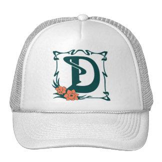 Fancy vintage art nouveau letter D Trucker Hat