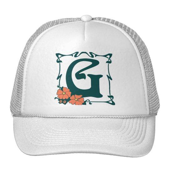 Fancy vintage art nouveau letter G Trucker Hat