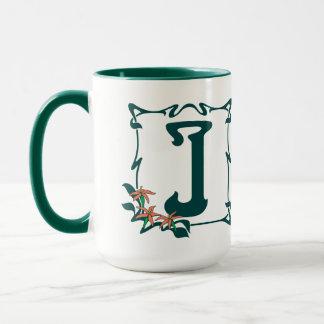 Fancy letter j coffee travel mugs zazzle - Fancy travel coffee mugs ...