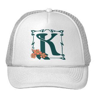 Fancy vintage art nouveau letter K Trucker Hat