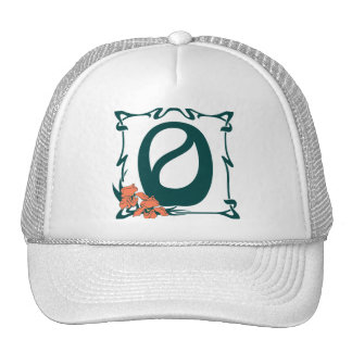 Fancy vintage art nouveau letter O Trucker Hat