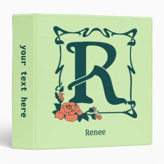 Fancy vintage art nouveau letter R Binder