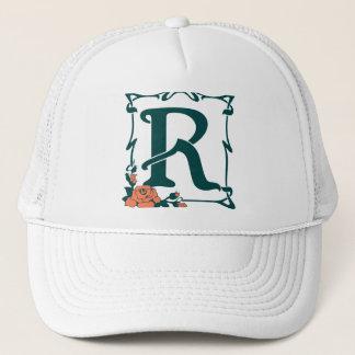 Fancy vintage art nouveau letter R Trucker Hat