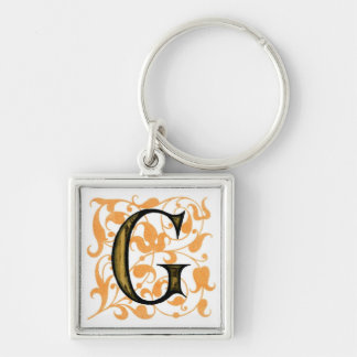Fancy Vintage Monogram 'G' Keychain