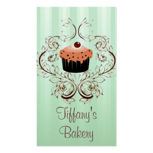 Fancy Vintage Victorian Bakery Business Boutique Business Card Templates