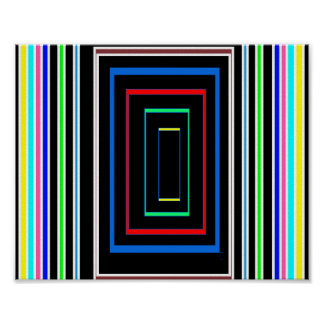 Fancy Wall Decorations Colorful Graphics Lines Sq Poster