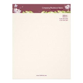 Fancy Waterlily Chic Floral Business Letterhead