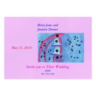 Fancy Wedding Bells Invitation Business Card Templates
