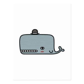 Fancy Whale Postcard