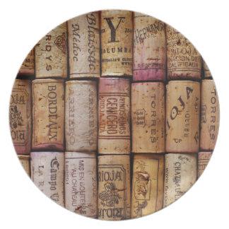 Fancy Wine Corks Dinner Plates