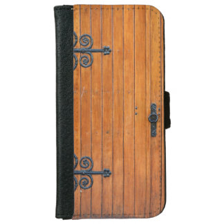Fancy Wood Door iPhone 6 Wallet Case