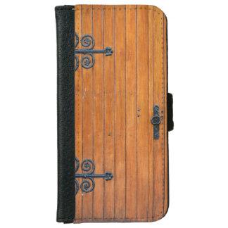 Fancy Wood Door iPhone 6 Wallet Case