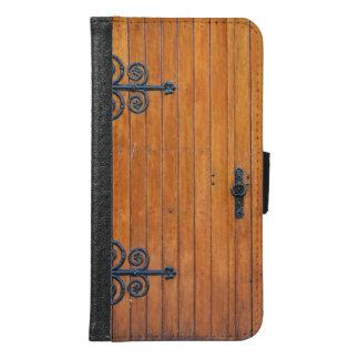 Fancy Wood Door Samsung S6 Wallet Case