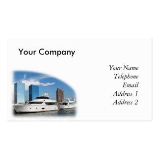 Fancy Yachts in Kaohsiung Port Business Card