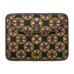 fancy yellow brown circle pattern sleeves for MacBook pro
