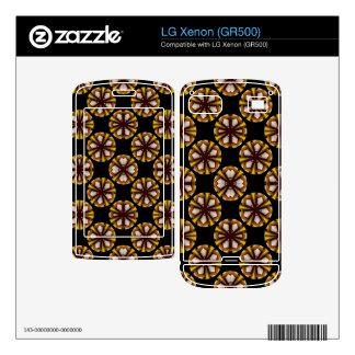 fancy yellow brown circle pattern LG xenon skin