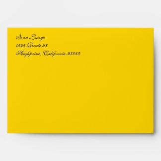 Fancy Yellow Gold A7 Return Address Envelopes