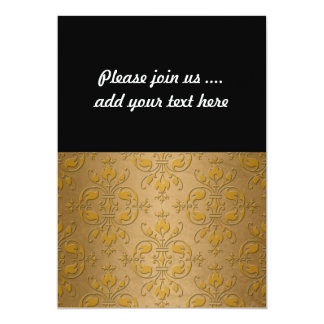 Fancy Yellow Gold Damask Card