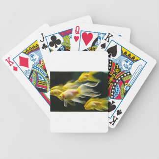Fancy Yellow Goldfish Swimming Bicycle Playing Cards