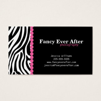 Fancy Zebra Print Business Card
