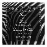 Fancy Zebra Print Save The Date Notice Announcements
