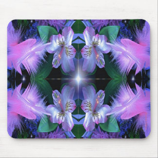 fancyflowersand Mousepad reflejado estrella Tapetes De Ratones