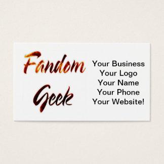 Fandom Geek Fire Business Card
