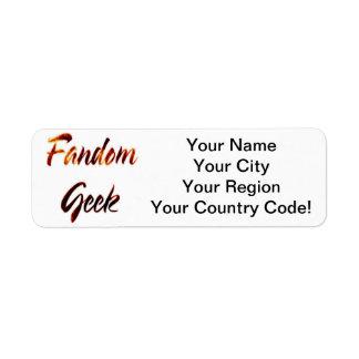 Fandom Geek Fire Custom Return Address Label