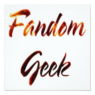 Fandom Geek Fire Invitation