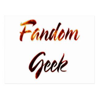 Fandom Geek Fire Postcard