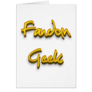 Fandom Geek Gold Greeting Cards