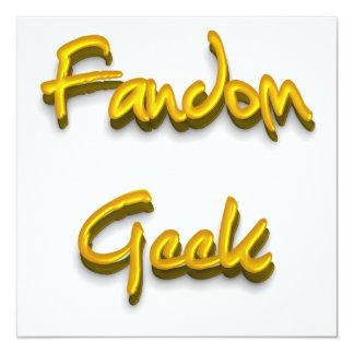 Fandom Geek Gold Invitation