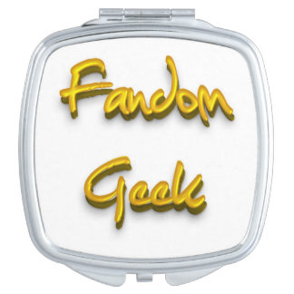 Fandom Geek Gold Mirror For Makeup