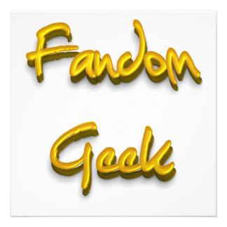Fandom Geek Gold Personalized Announcement