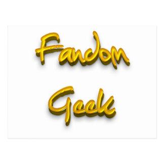 Fandom Geek Gold Post Card
