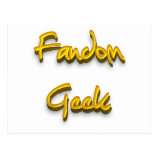 Fandom Geek Gold Postcard