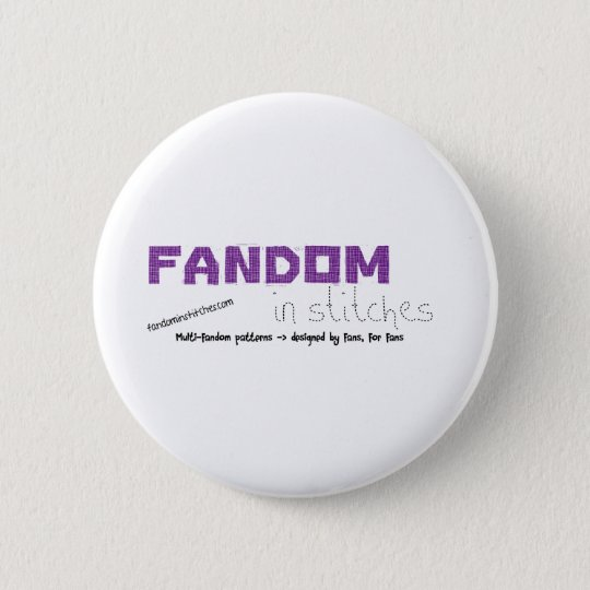Fandom In Stitches Button