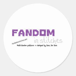 Fandom In Stitches Classic Round Sticker