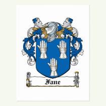 Fane Family Crest Postcard